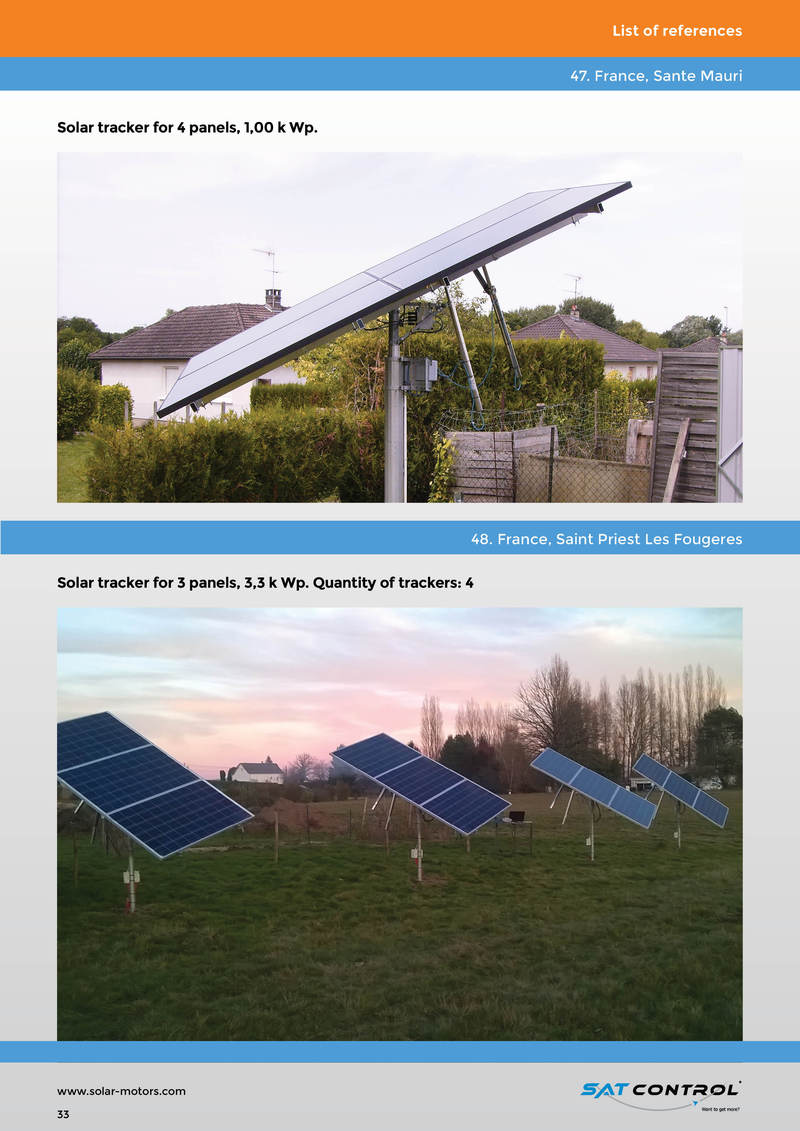 Solar Tracker & Sun Tracker & Actuator for Solar Tracker